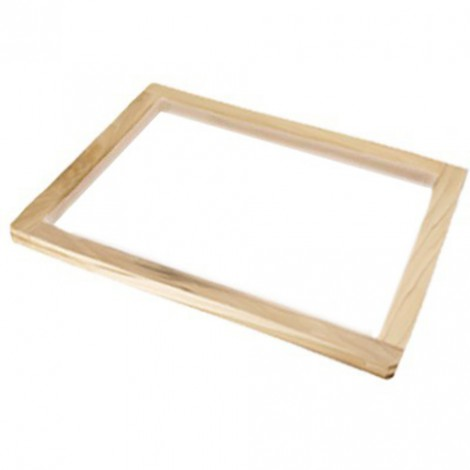 Wooden screen printing frame