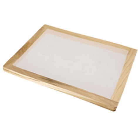 Stretched wooden screen printing frame