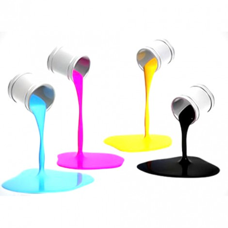 Quasar solvent inks for pad printing
