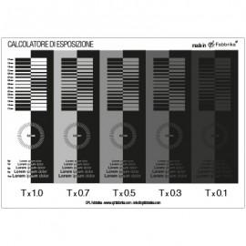 calcolatore di esposizione per telai serigrafici