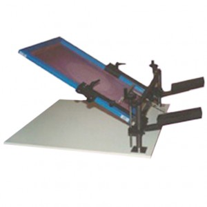 Manual Screen Printing MOD. BASE WITH WOODEN BASE, MAX FRAME FORMAT 75X75 CM