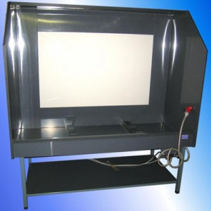 FRAME WASHING TANK WITH BACKLIT VIEWER
