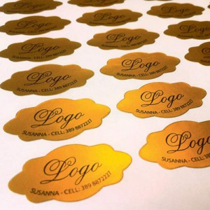 LASER PRINTABLE ADHESIVE POLYESTER - GLOSSY GOLD - PACK OF 50 A4 SHEETS