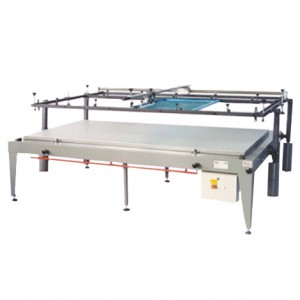 Manual Screen Printing MOD. PANT WITH GUIDED SQUEEGEE 140X250 WITH ALUMINUM EXTRACTOR TOP