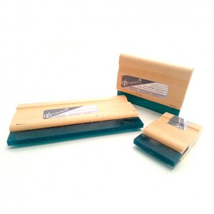 Wooden squeegee with blade - 75 Shore. Various Sizes.